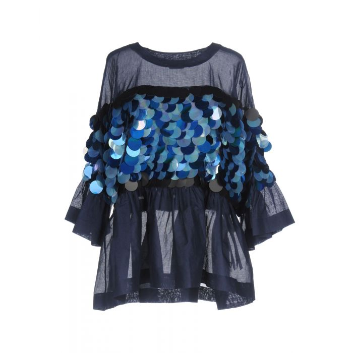 Image for Dark blue cotton blouse
