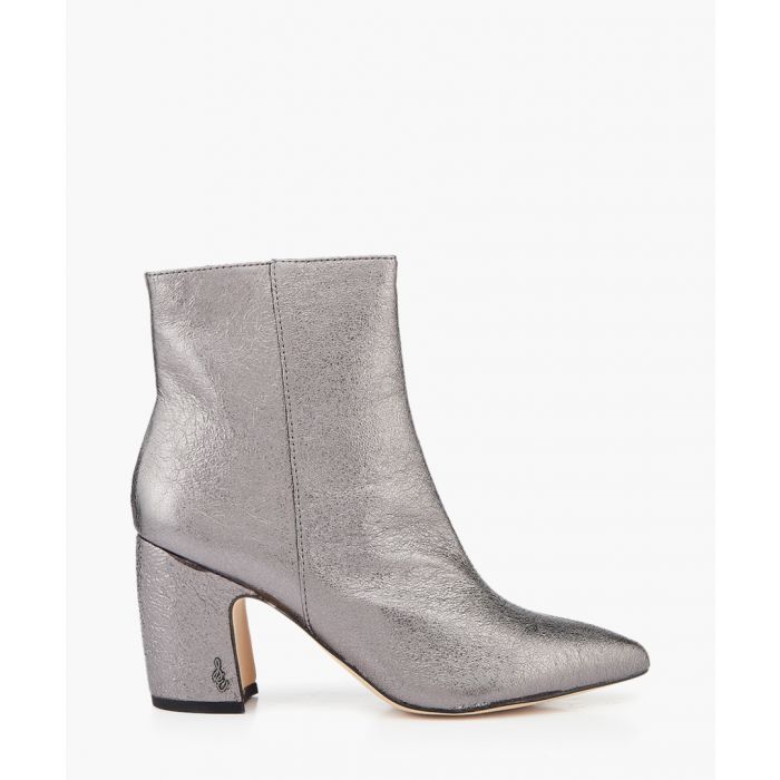 Image for Hilty dark pewter heeled ankle boots