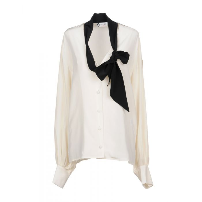 Image for Ivory silk shirt