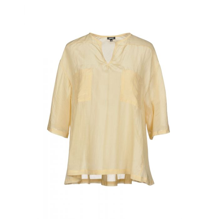 Image for Aspesi Sand Cotton Bluse