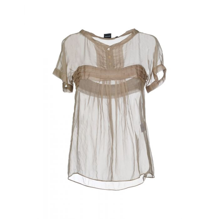 Image for Aspesi Khaki Silk Bluse