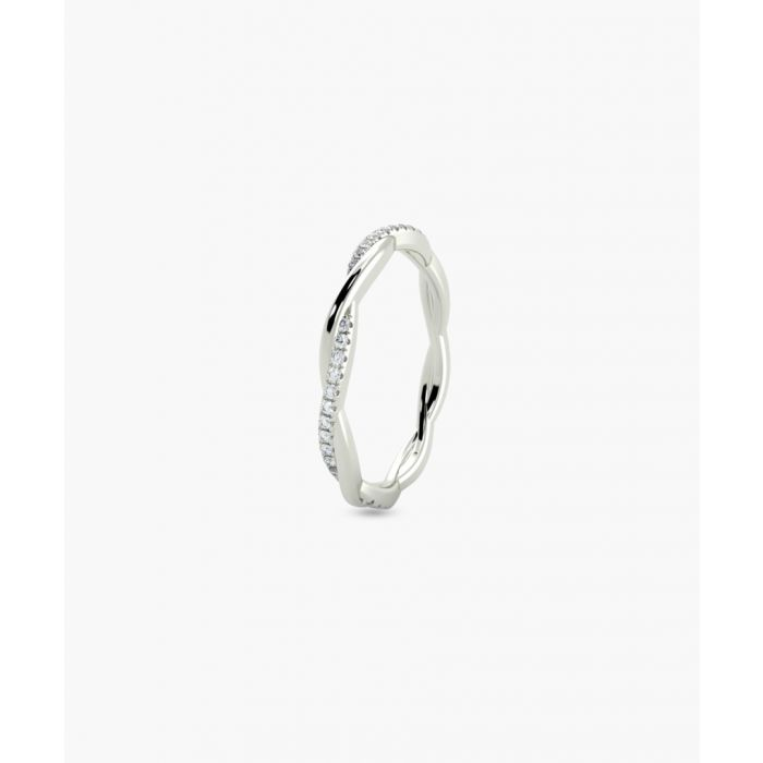 Image for 9k white gold full twisted eternity ring