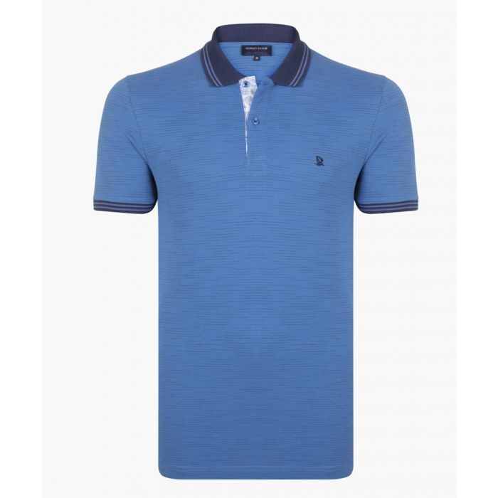 Image for Blue and navy polo shirt