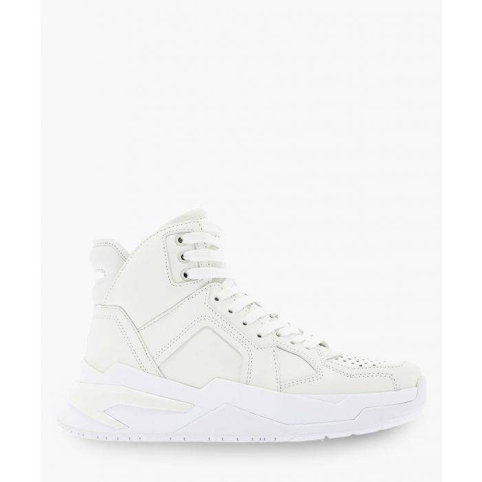 Image for B-ball white leather trainers