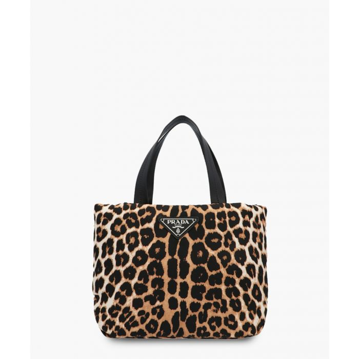 Image for Leopard printed leather grab bag