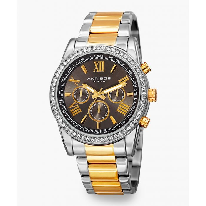 Image for Silver and gold-tone chronograph watch