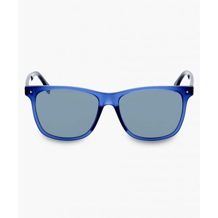 Image for Blue and grey silver-tone sunglasses