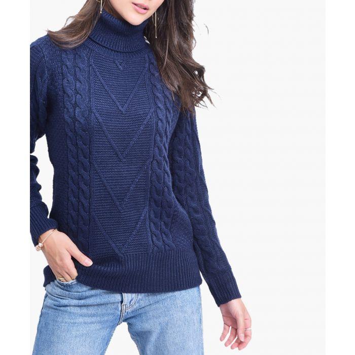Image for Navy cashmere blend jumper