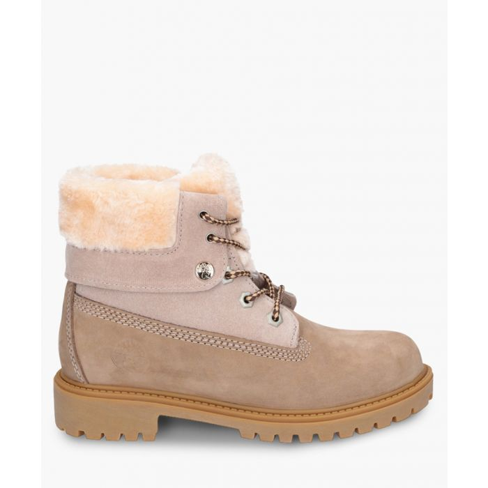 Image for Walnut II beige lace-up ankle boots