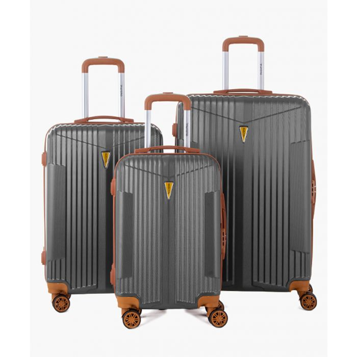 Image for 3pc grey spinner suitcase set
