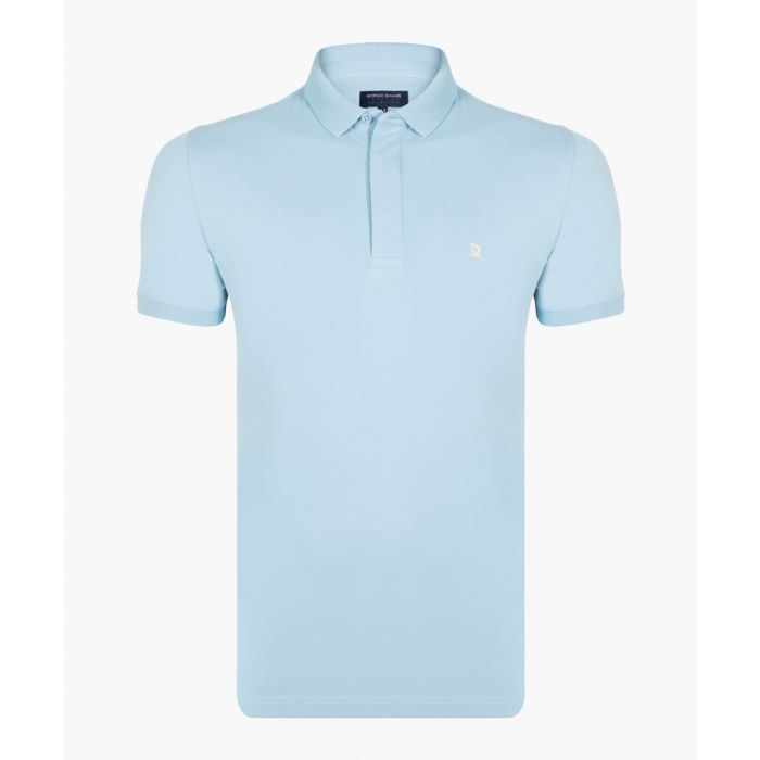 Image for Blue long sleeved polo shirt