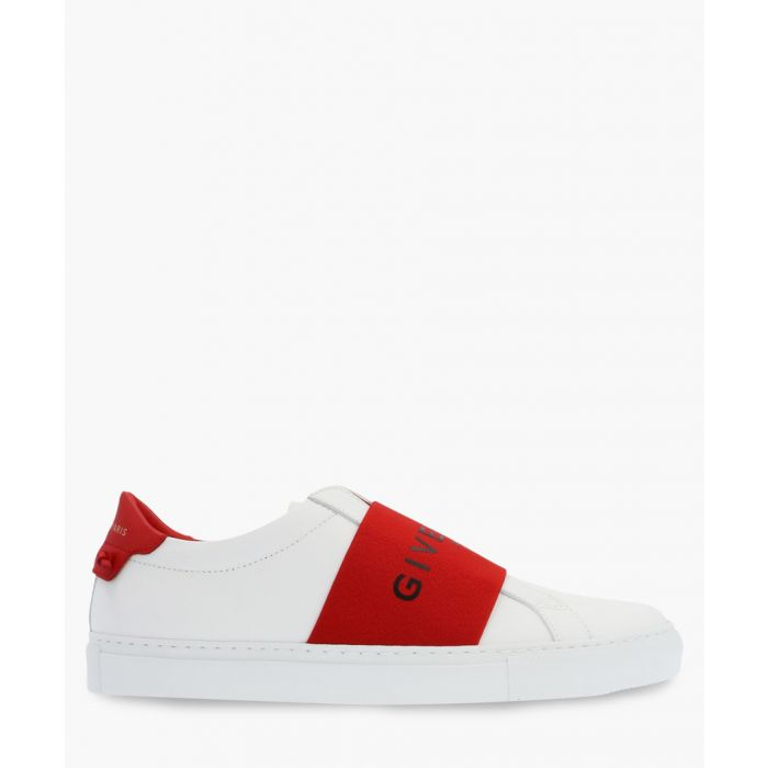 Image for Paris Webbing white leather trainers