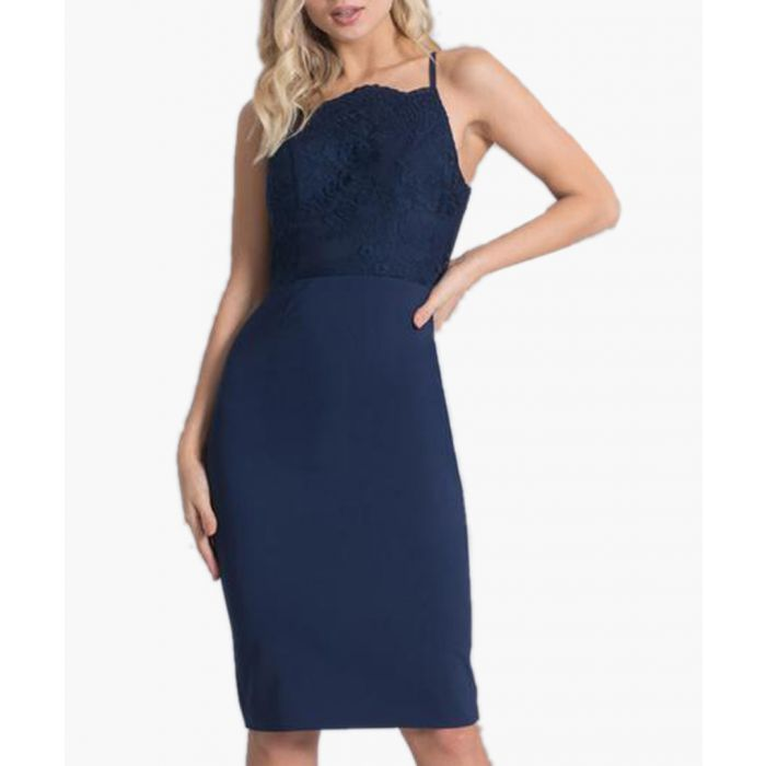 Image for Lilly navy knee-length dress