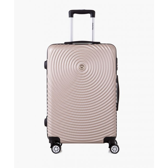 Image for Gold-tone spinner suitcase