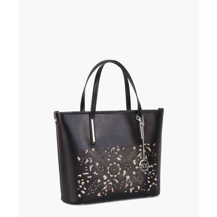 Image for Comasina black leather grab bag