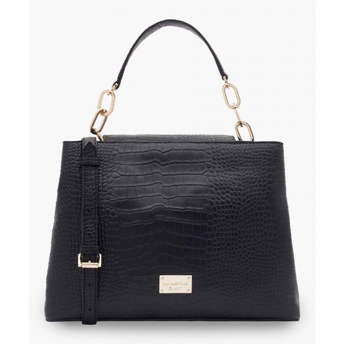 Image for Angello black leather bag