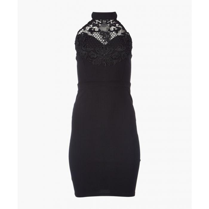 Image for Black lace bodycon mini dress