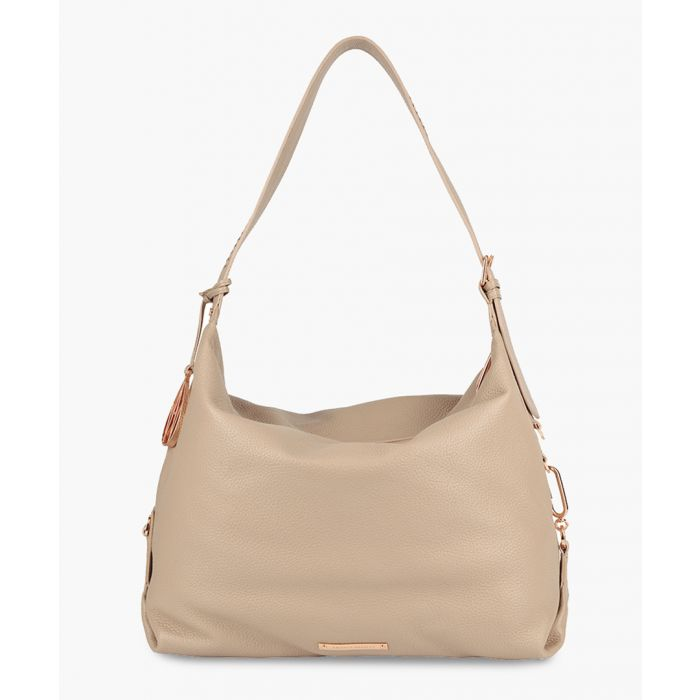Image for Jovi cream leather shoulder bag