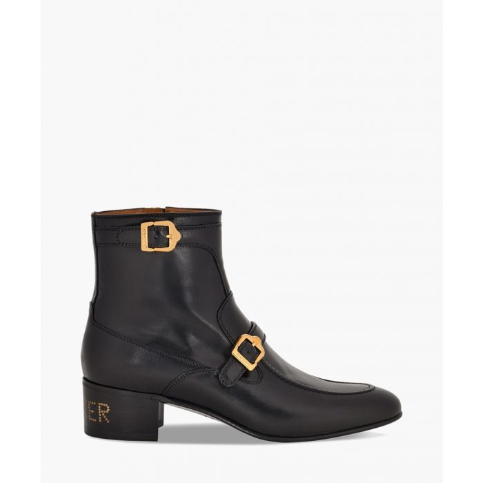 Image for Sucker heel print leather boots