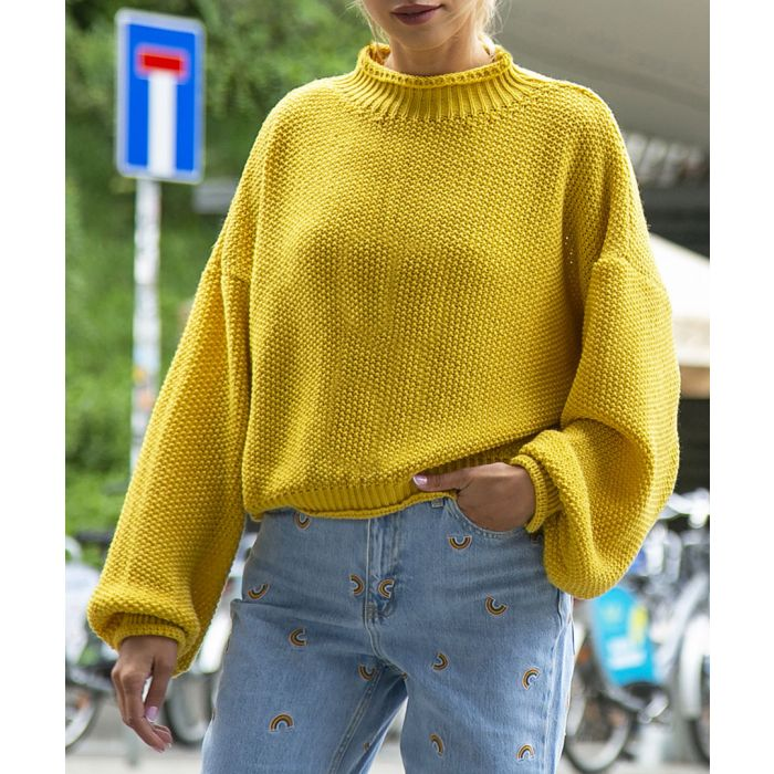 Image for Ceylon yellow knitted wool blend sweater