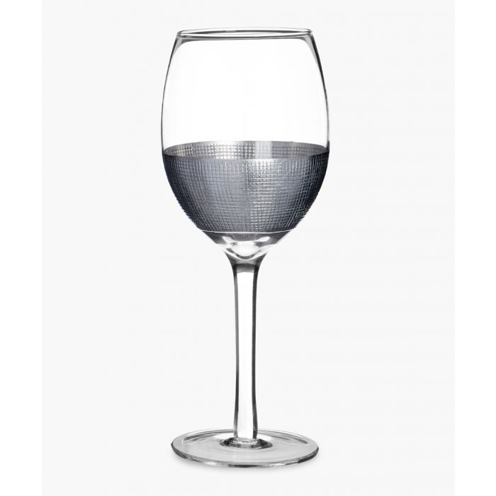 Image for 4pc Apollo silver-tone crosshatched small wine glasses