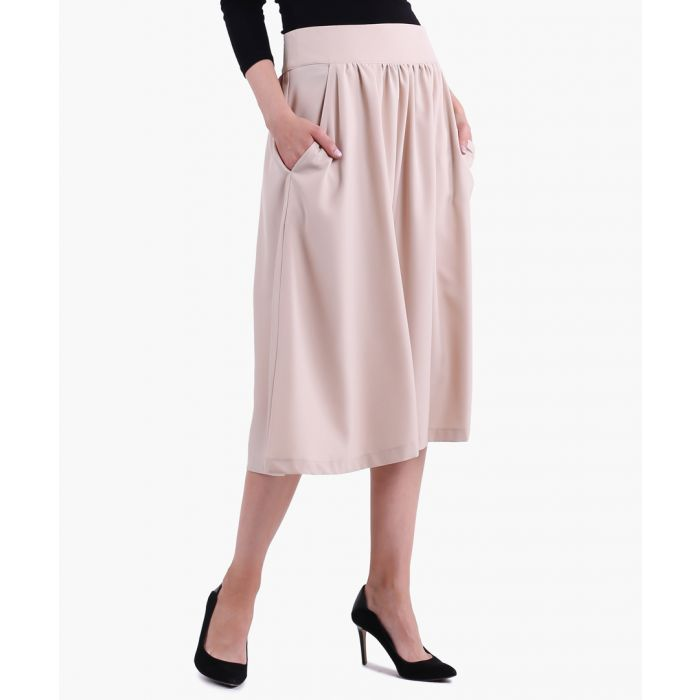 Image for Beige woven skirt