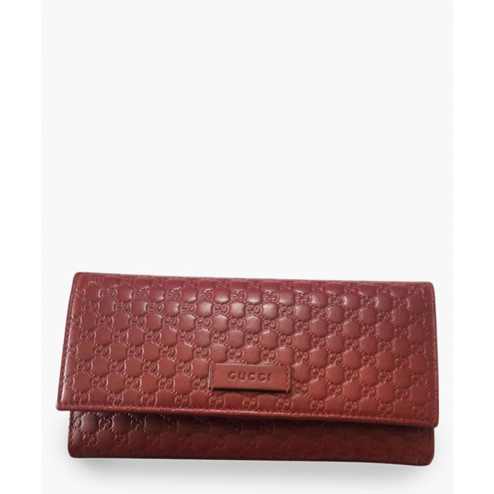 Image for Guccissima red leather fold purse