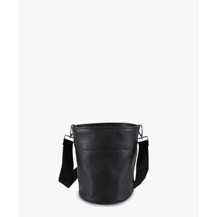 Image for Vitello Daino black leather bucket bag