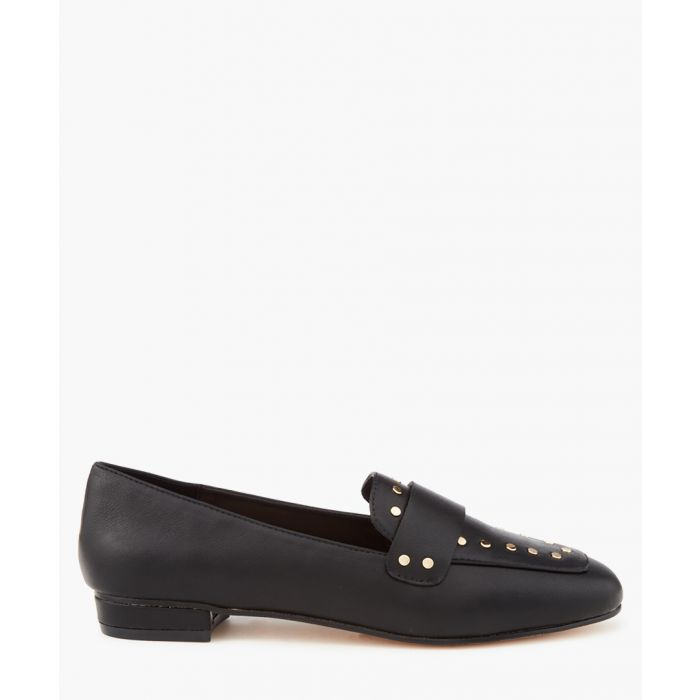 Image for Mineral black rivet loafers