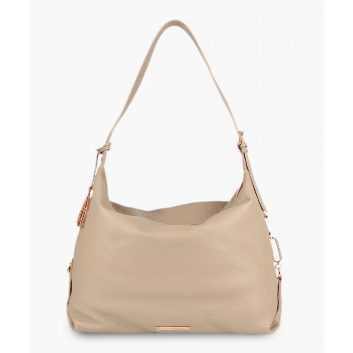 Image for Costner cream leather shoulder bag