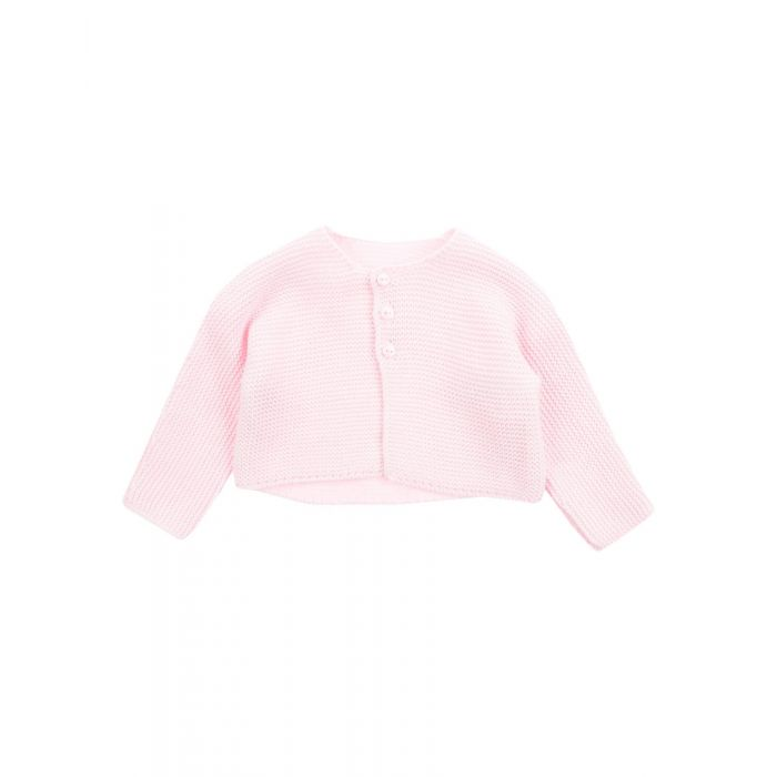 Image for Pink and blue knitted cotton cardigan
