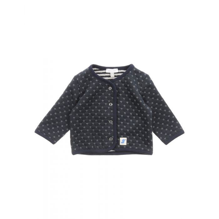 Image for Dark blue knitted cotton cardigan