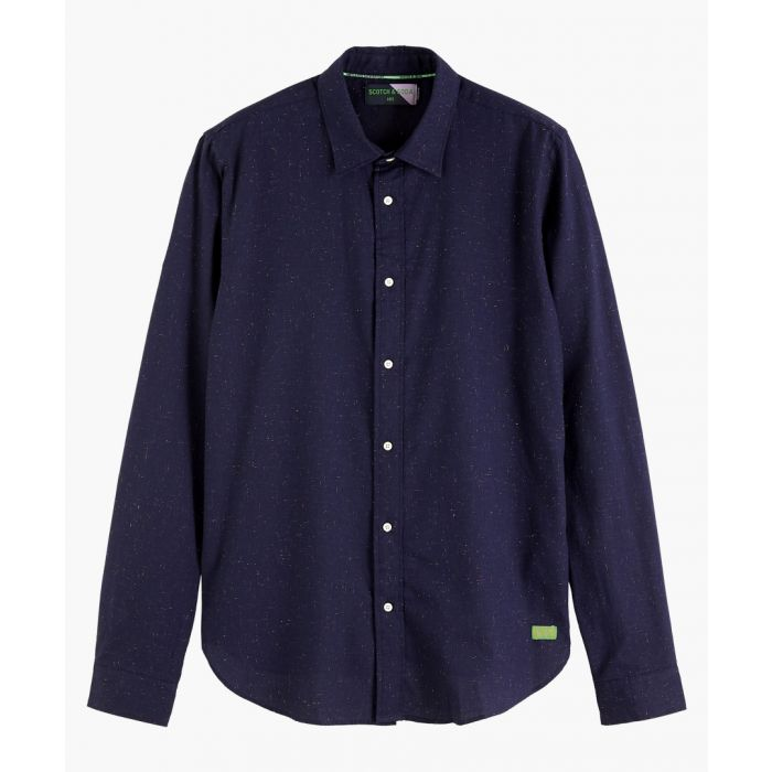 Image for Night blue cotton regular fit shirt