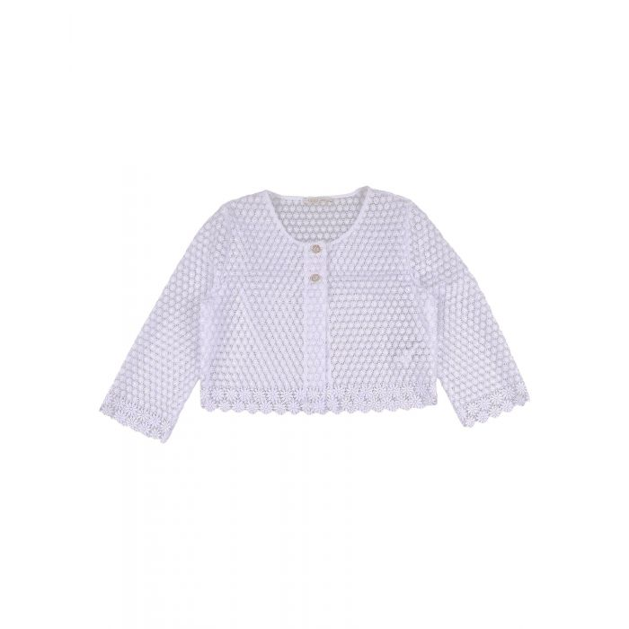 Image for White lace knit cardigan