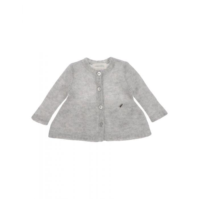 Image for Light grey wool cardigan