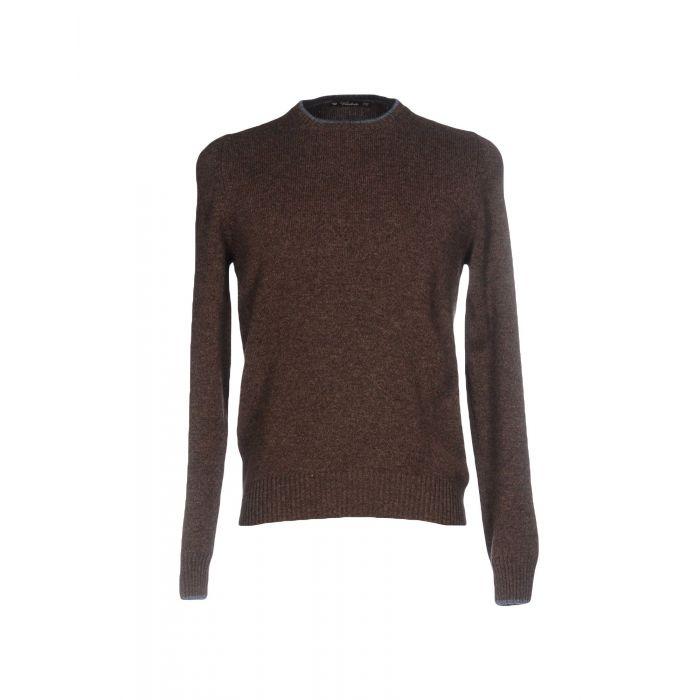 Image for Dark brown pure wool jumper