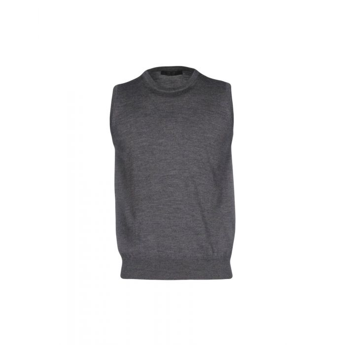 Image for Grey pure wool jumper