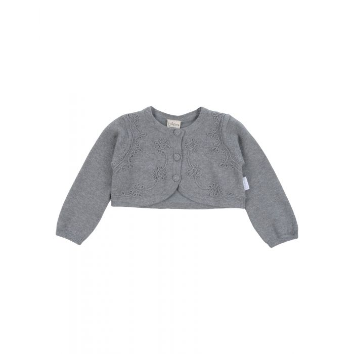 Image for Grey cotton blend long sleeved cardigan
