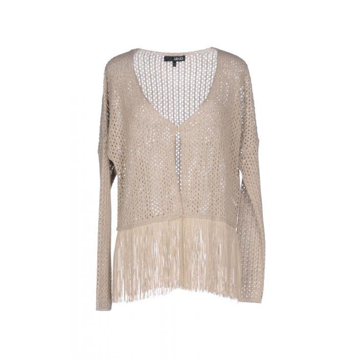 Image for Beige V-neck knitted cardigan
