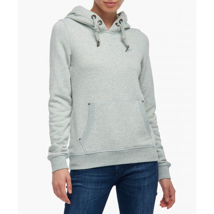 Image for Mint melange hooded jumper