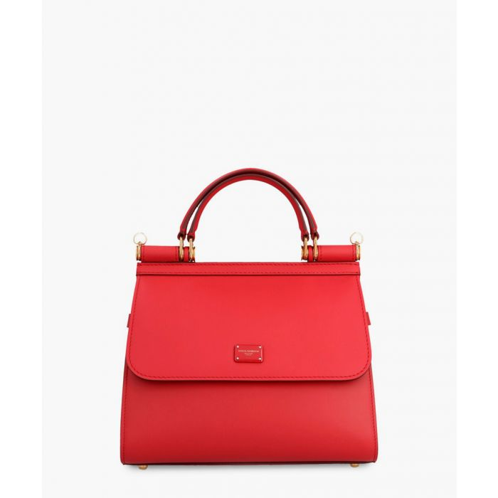 Image for Sicily 58 red leather small tote