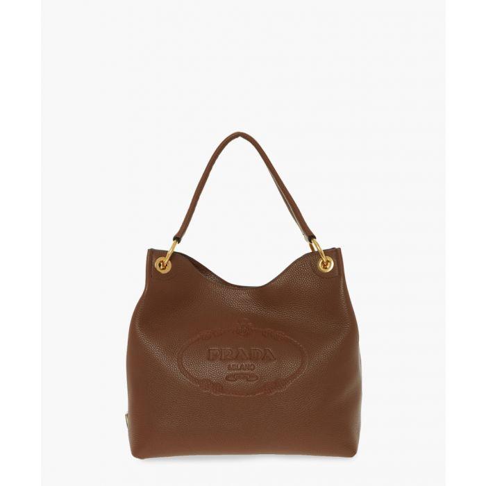 Image for Vitello Phenix cannella leather hobo bag