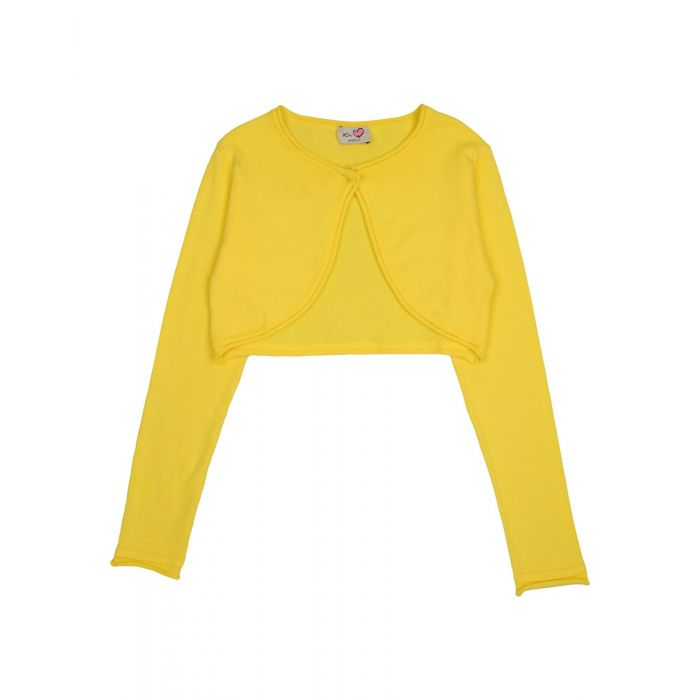 Image for Yellow pure cotton cardigan