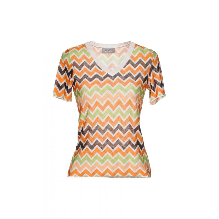Image for Orange patterned t-shirt