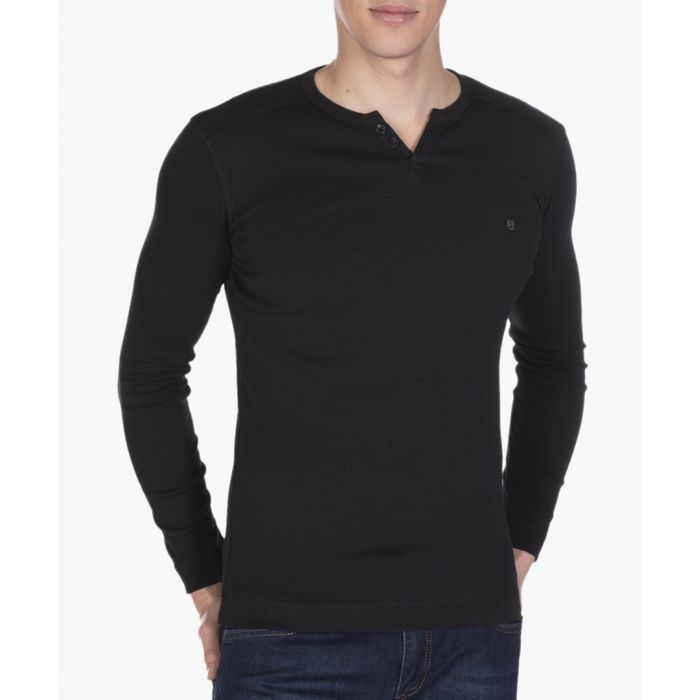 Image for Black cotton long sleeve T-shirt