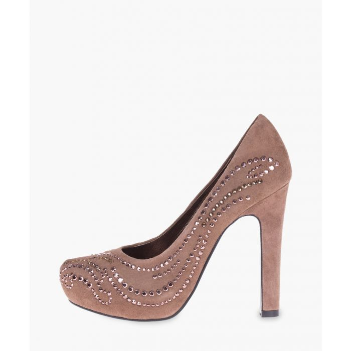 Image for Taupe leather pumps