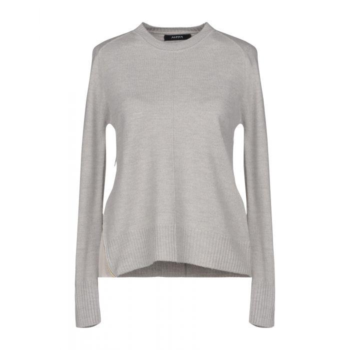 Image for Alpha Studio Grey Merinos Wool Pullover