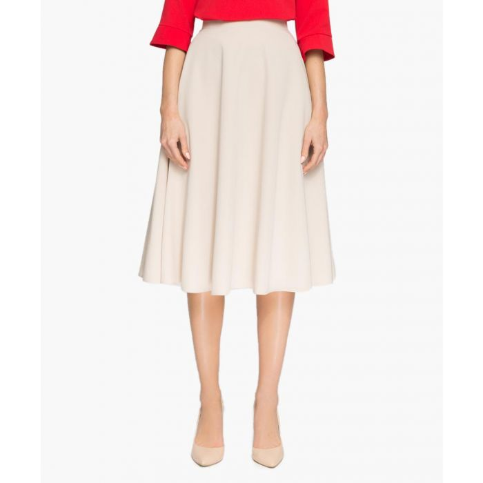 Image for Beige pleated skirt