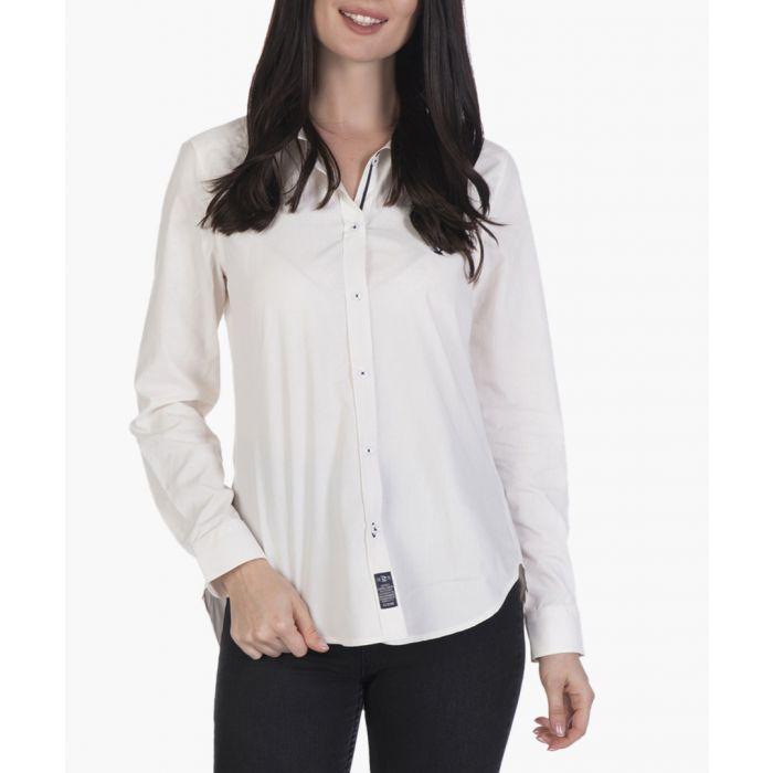 Image for Ecru cotton shirt