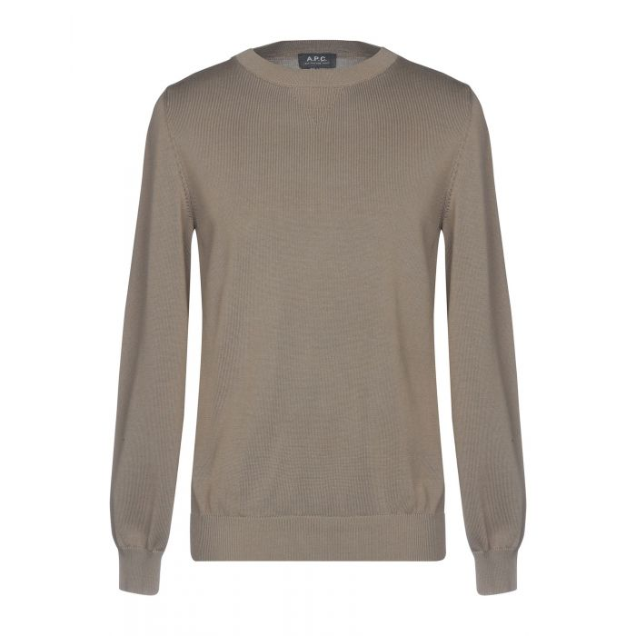 Image for A.P.C. Military green Cotton Pullover